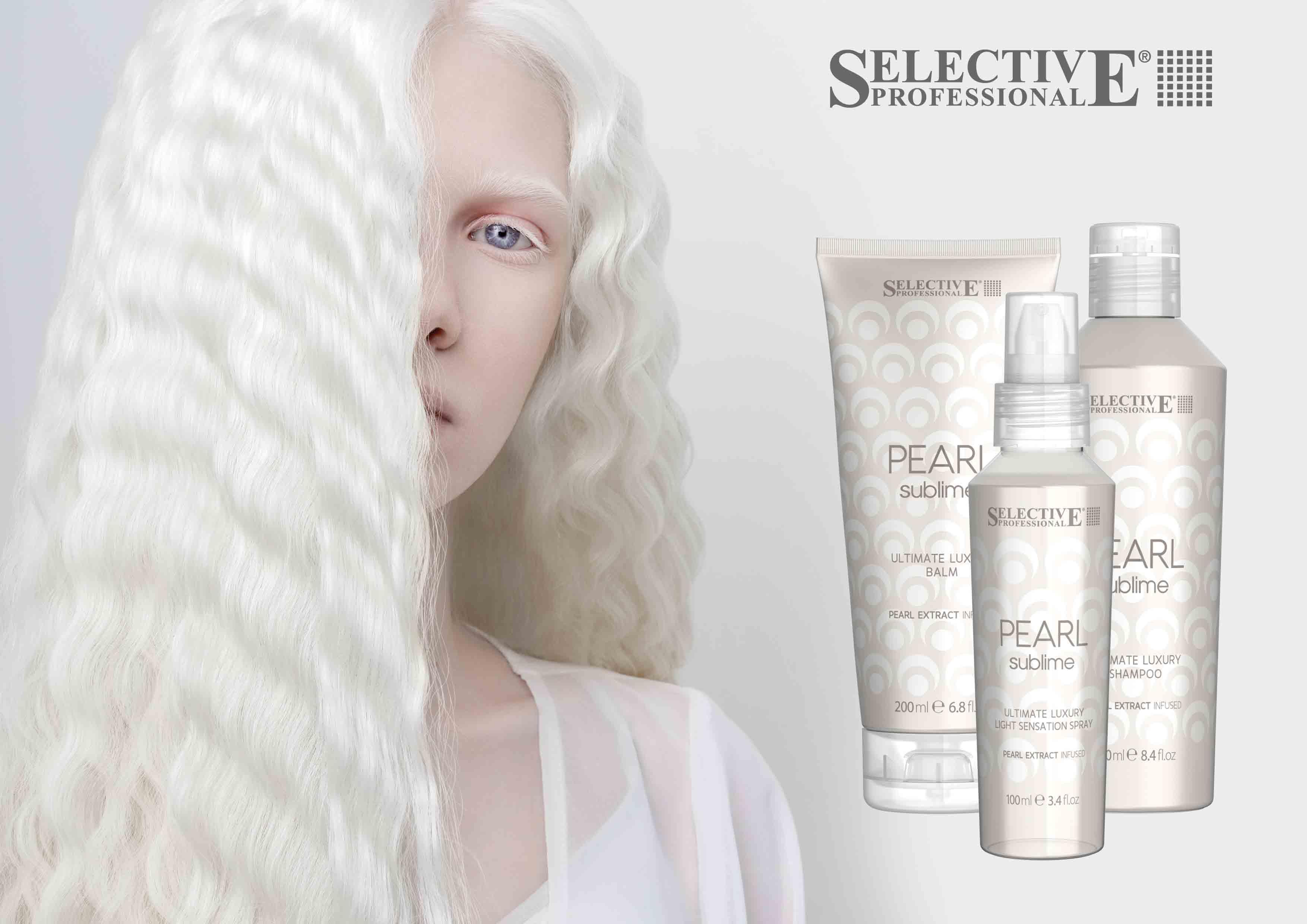 Pearl Sublime - профессиональный уход для волос с экстрактом жемчуга от Selective Professional